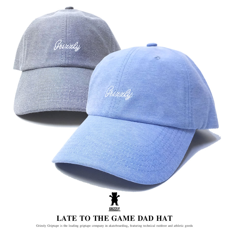 GRIZZLY グリズリー カーブバイザーキャップ メンズ 帽子 LATE TO THE GAME DAD HAT (SMB1635A02)
