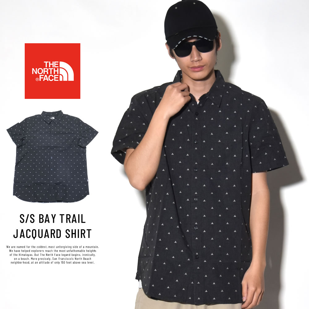 THE NORTH FACE ザ・ノースフェイス 半袖シャツ S/S BAY TRAIL JACQUARD SHIRT (NF0A3BDX4MV)