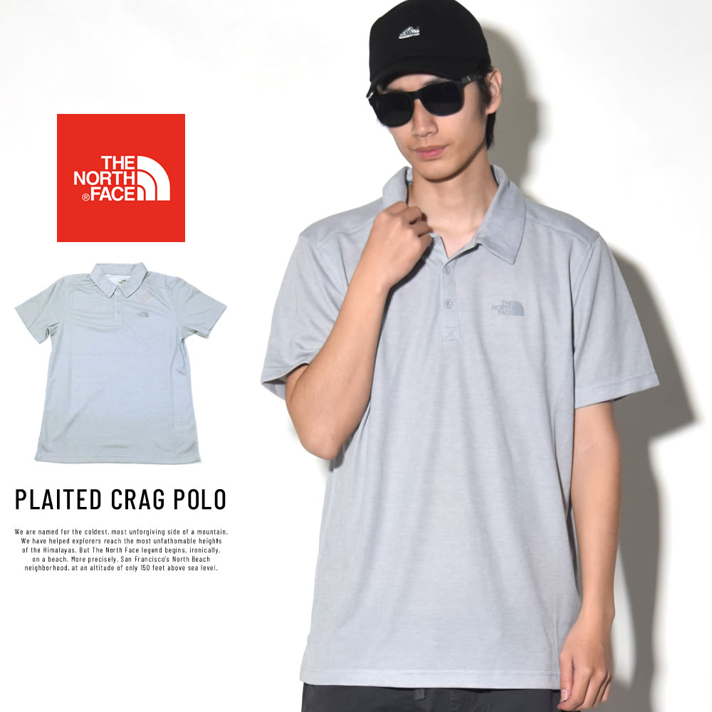 THE NORTH FACE ザ・ノースフェイス ポロシャツ PLAITED CRAG POLO ライトグレー (NF0A3G3NDYX)
