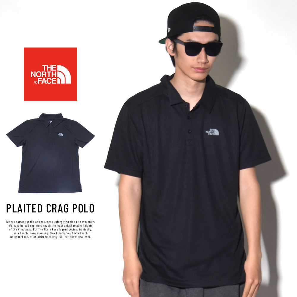 THE NORTH FACE ザ・ノースフェイス ポロシャツ PLAITED CRAG POLO ブラック (NF0A3G3NJK3)