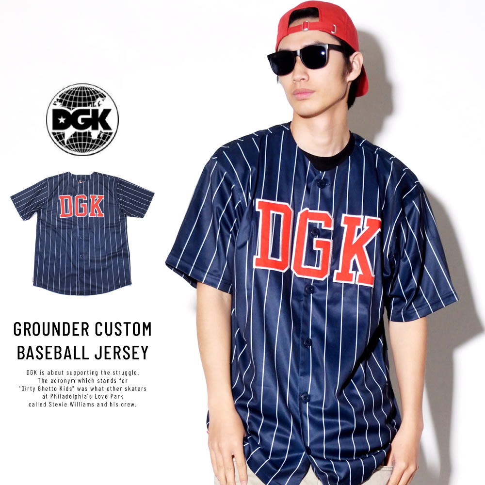 DGK ディージーケー ベースボールシャツ GROUNDER CUSTOM BASEBALL JERSEY (DSS-287)