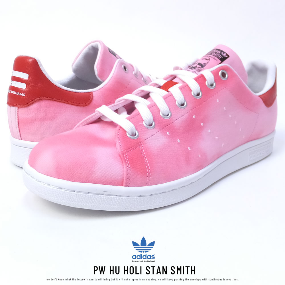 adidas アディダス スニーカー コラボ PHARRELL WILLIAMS HU HOLI STAN SMITH FTWWHT/FTWWHT/RED (AC7044)