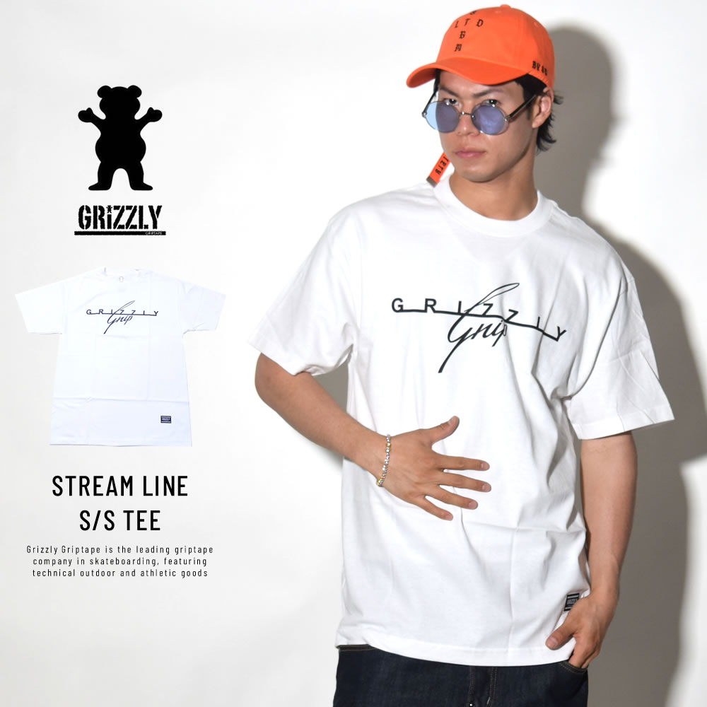 GRIZZLY グリズリー 半袖Tシャツ STREAM LINE S/S TEE (GMB1801P02)