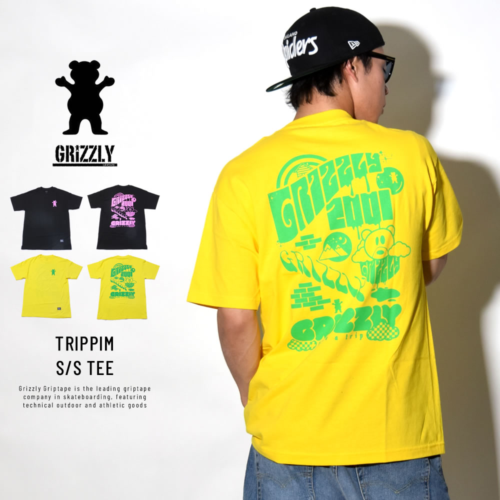 GRIZZLY グリズリー 半袖Tシャツ TRIPPIM S/S TEE (GMB1801P07)