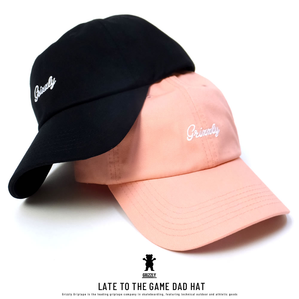 GRIZZLY グリズリー カーブバイザーキャップ LATE TO THE GAME DAD HAT (SMB1635A02)