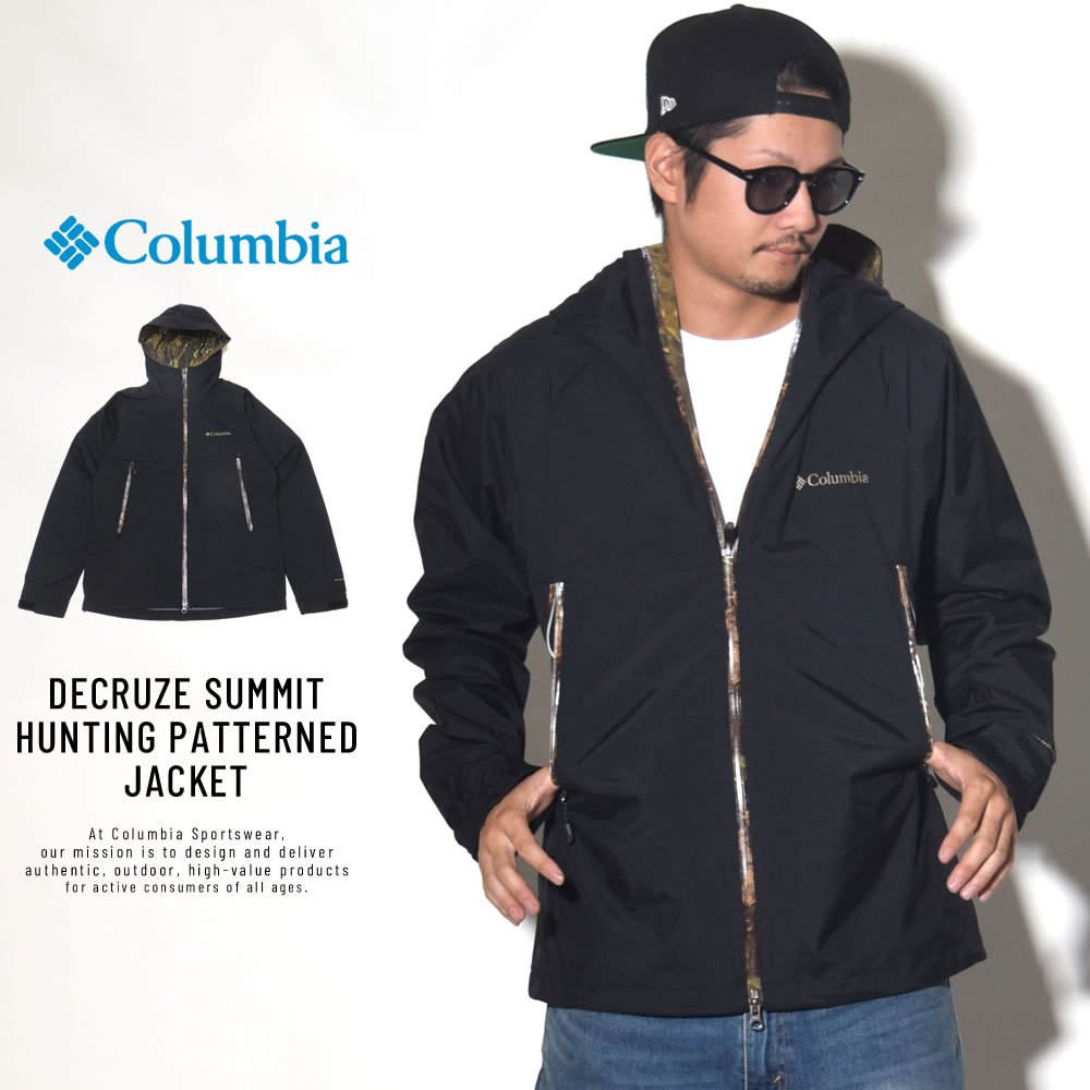 COLUMBIA コロンビア ウインドブレーカー DECRUZE SUMMIT HUNTING PATTERNED JACKET PM3401