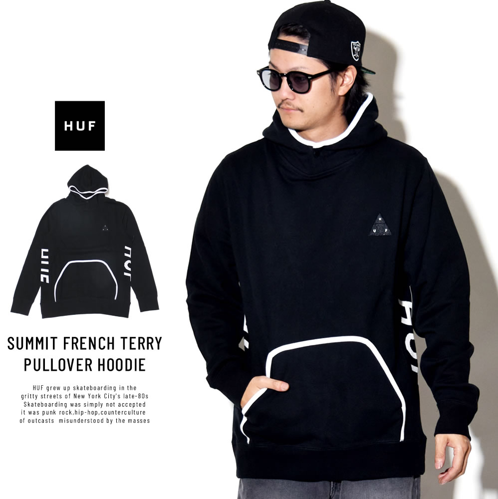 HUF ハフ プルオーバーパーカー SUMMIT FRENCH TERRY PULLOVER HOODIE FL00065