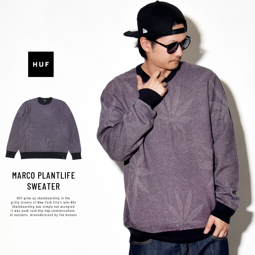 HUF ハフ セーター MARCO PLANTLIFE SWEATER KN00061