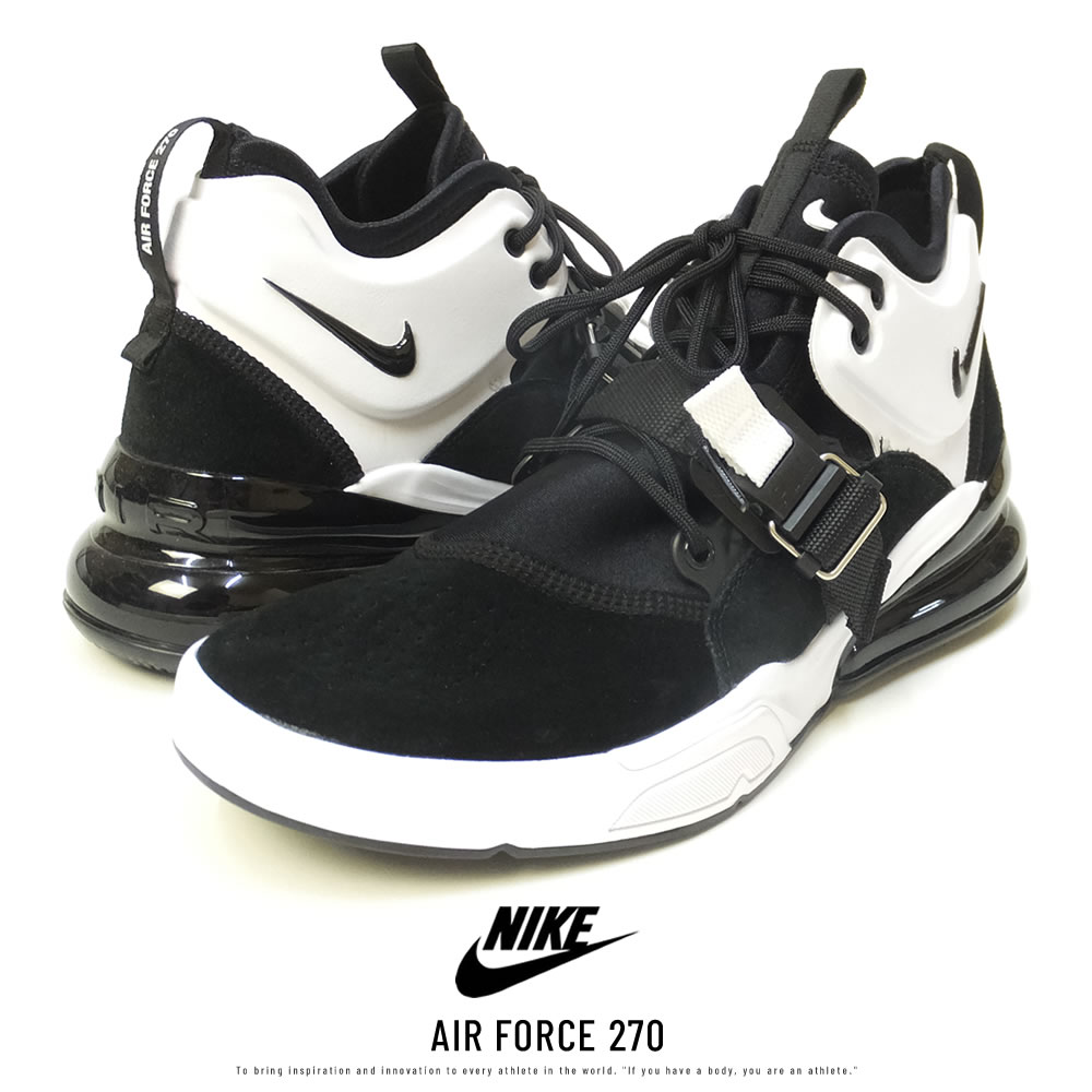 NIKE ナイキ シューズ AIR FORCE 270 BLACK/WHITE/BLACK (AH6772-006)