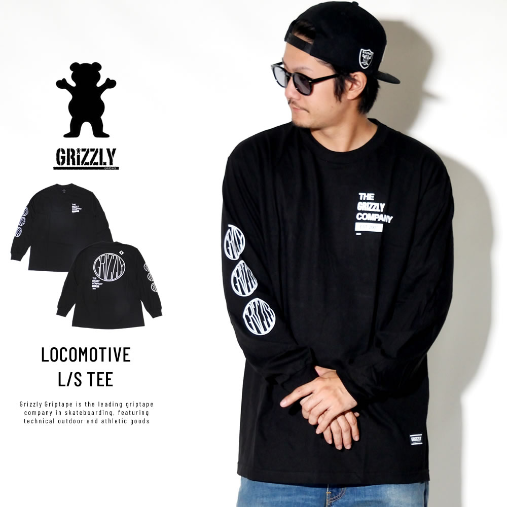 Grizzly Griptape 長袖Tシャツ LOCOMOTIVE L/S TEE GMC1802P15