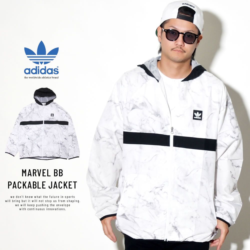 adidas Skateboarding アディダス スケートボーディング ウィンドブレーカー MARVEL BB PACKABLE JACKET DH3880