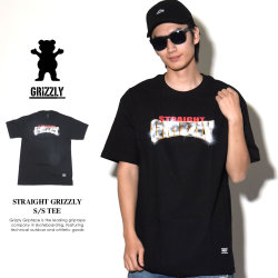 GRIZZLY グリズリー Tシャツ メンズ STRAIGHT GRIZZLY S/S TEE (GMA1801P16)