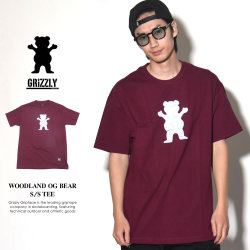 GRIZZLY グリズリー Tシャツ メンズ WOODLAND OG BEAR S/S TEE (GMA1801P31)