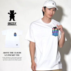 GRIZZLY グリズリー Tシャツ メンズ ABOVE THE CLOUDS S/S POCKET TEE (GMA1803P01)