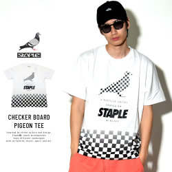 STAPLE ステイプル 半袖Tシャツ CHECKER BOARD PIGEON TEE (1802C4586)