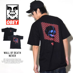 OBEY オベイ 半袖Tシャツ WALL OF DEATH NEVER (163081703)