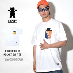 GRIZZLY グリズリー 半袖Tシャツ PSYCHEDELIC POCKET S/S TEE (GMB1803P01)