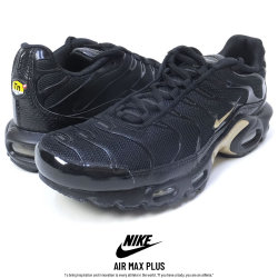 NIKE ナイキ スニーカー AIR MAX PLUS BLACK/METALLIC-GOLD (852630-022)