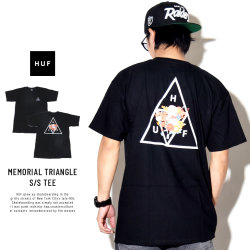 HUF ハフ 半袖Tシャツ MEMORIAL TRIANGLE S/S TEE TS00389