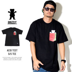 Grizzly Griptape 半袖ポケットTシャツ ACID TEST S/S TEE GMC1803P03