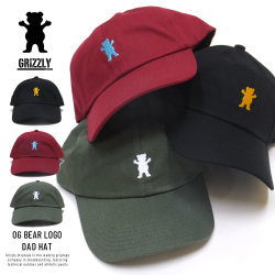 Grizzly Griptape カーブバイザーキャップ OG BEAR LOGO DAD HAT SMB1635A01