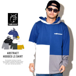 THE HUNDREDS ザ・ハンドレッツ 長袖Tシャツ ABSTRACT HOODED LS SHIRT T18W109004