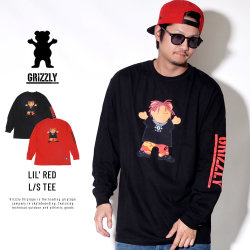 Grizzly Griptape グリズリーグリップテープ 長袖Tシャツ LIL' RED L/S TEE SMB1802P08