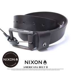 NIXON ニクソン ベルト メンズ AMERICANA BELT II DARK-BROWN (C23711445)