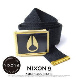 NIXON ニクソン ベルト メンズ ENAMEL WINGS BELT BLACK/GOLD (C790010)