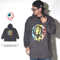 MISHKA ミシカ プルオーバーパーカー WET PAINT KEEP WATCH HOODIE MSS190408