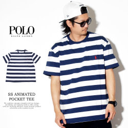 POLO RALPH LAUREN ポロラルフローレン 半袖Tシャツ SS ANIMATED POCKET TEE CLASSIC 710746754001