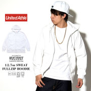 UNITED ATHLE ユナイテッドアスレ ジップパーカー AUTHENTIC SUPER HEAVY WEIGHT 12.7oz SWEAT FULLZIP HOODIE ホワイト 5738-01-001 7V9323