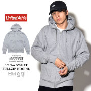 UNITED ATHLE ユナイテッドアスレ ジップパーカー AUTHENTIC SUPER HEAVY WEIGHT 12.7oz SWEAT FULLZIP HOODIE グレー 5738-01-006 7V9325