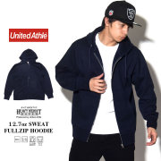 UNITED ATHLE ユナイテッドアスレ ジップパーカー AUTHENTIC SUPER HEAVY WEIGHT 12.7oz SWEAT FULLZIP HOODIE ネイビー 5738-01-086 7V9326