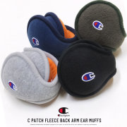 CHAMPION チャンピオン イヤーマフ C PATCH FLEECE BACK ARM EAR MUFFS 489-1038