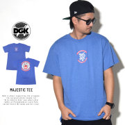 DGK ディージーケー 半袖Tシャツ MAJESTIC TEE ROYAL-HEATER PTM-1074