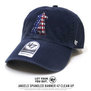 47BRAND フォーティーセブンブランド カーブバイザーキャップ ANGELS SPANGLED BANNER 47 CLEAN UP B-SPGBN04GWS-NY