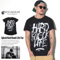 ROCA WEAR ロカウェア 半袖Tシャツ SPLASH HARD KNOCK LIFE TEE R1701T513 7V1254