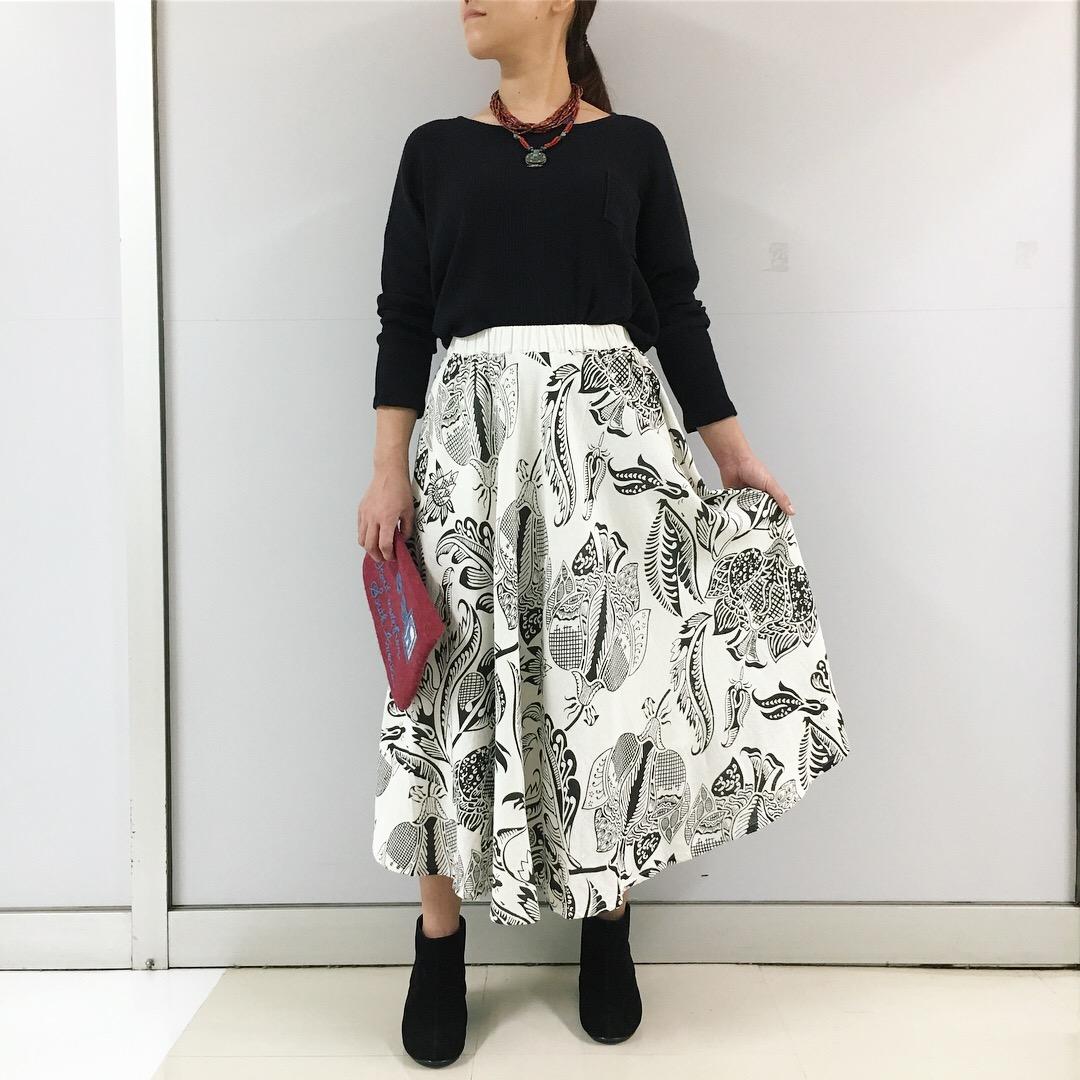 ルクマニ フラワーキャリコスカート