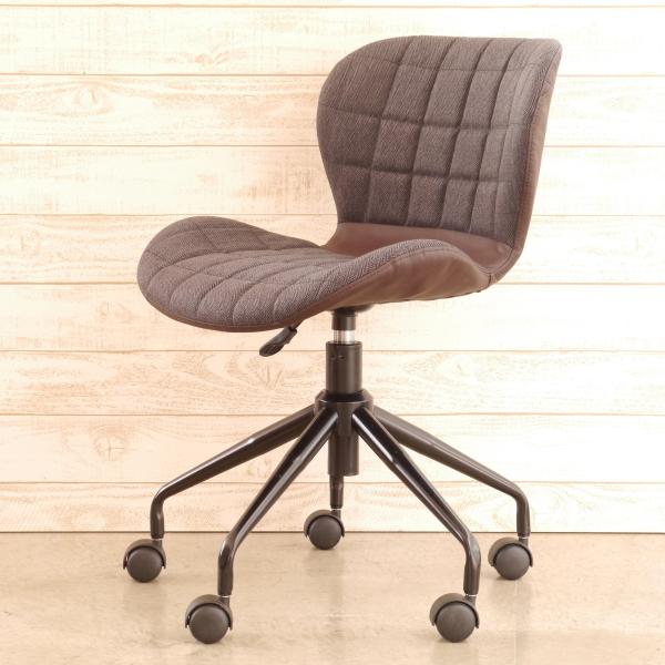 丸くてかわいいオフィスチェア カフェスタイル ブラウン