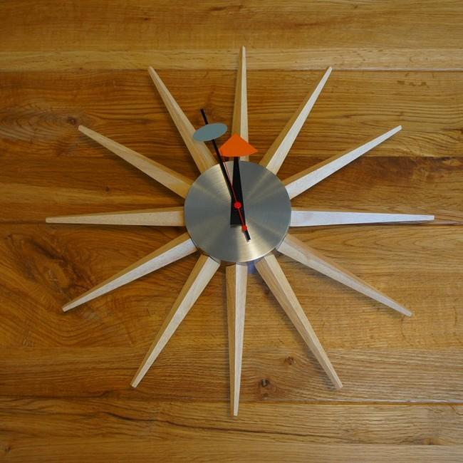 【送料無料】 デザイナーズ 掛け時計 ナチュラル スターバーストクロック50`S /ネルソン/ミッドセンチュリー