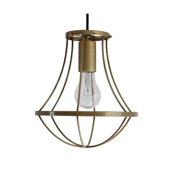 【送料無料】アンティークなデザイン照明 真鍮のフレームがオシャレなペンダントライト