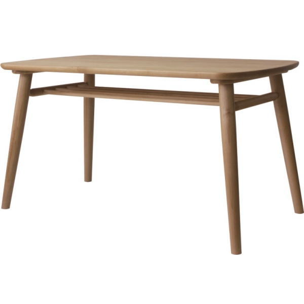 【送料無料】 無垢材を使用したウィンザー調ダイニングテーブル 幅130