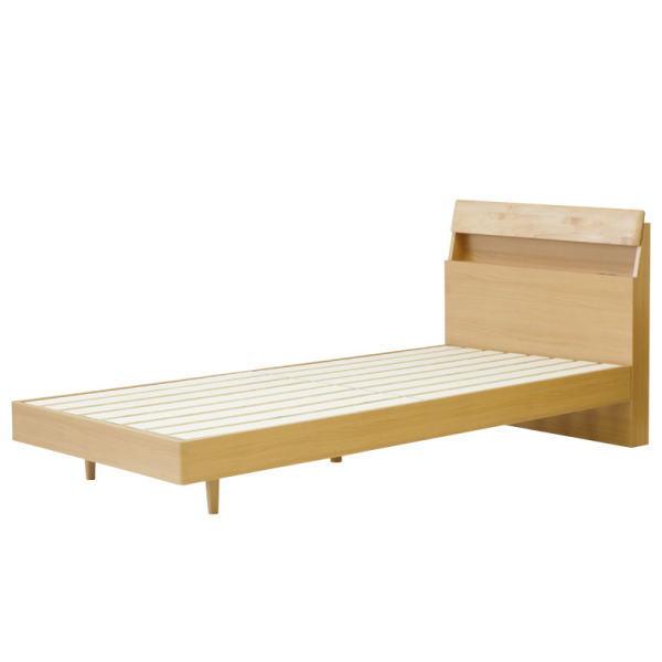 【送料無料】 無垢材を使用した北欧デザインの木製ベッドフレーム