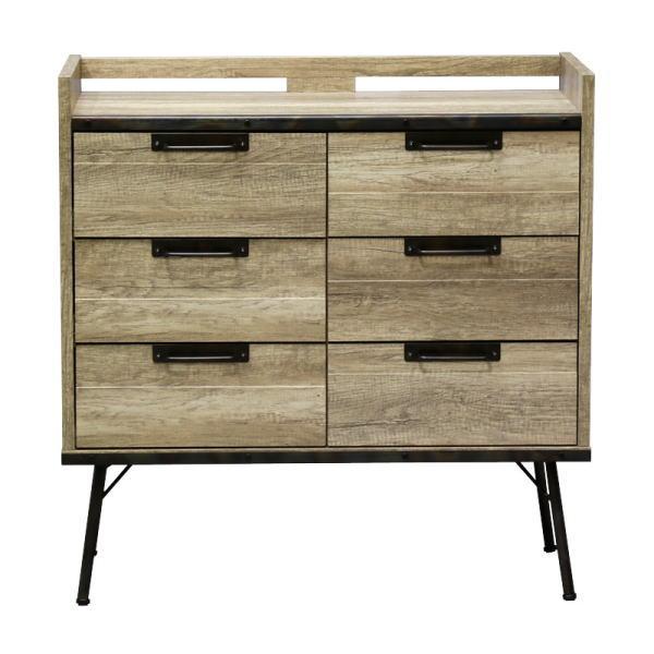【送料無料】 インダストリアルデザイン 古材とスチールの組み合わせがかっこいい収納家具 引き出し収納 幅88