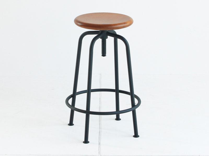 【送料無料】 木とスチールが融合したデザイン カフェ風インテリアに最適なスツール