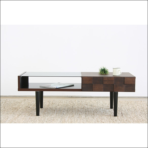 【送料無料】日本製なので安心 モダンなデザインのリビングテーブル
