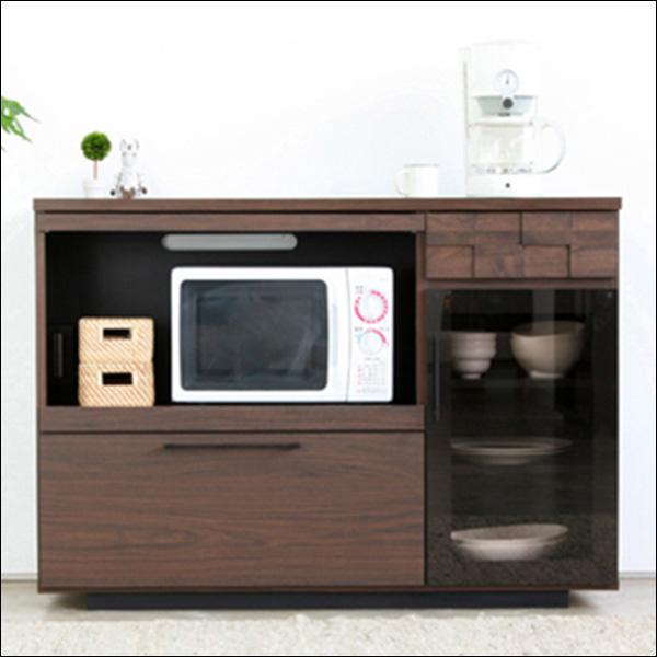 【送料無料】日本製なので安心 モダンなデザインのキッチン収納 レンジ台 120