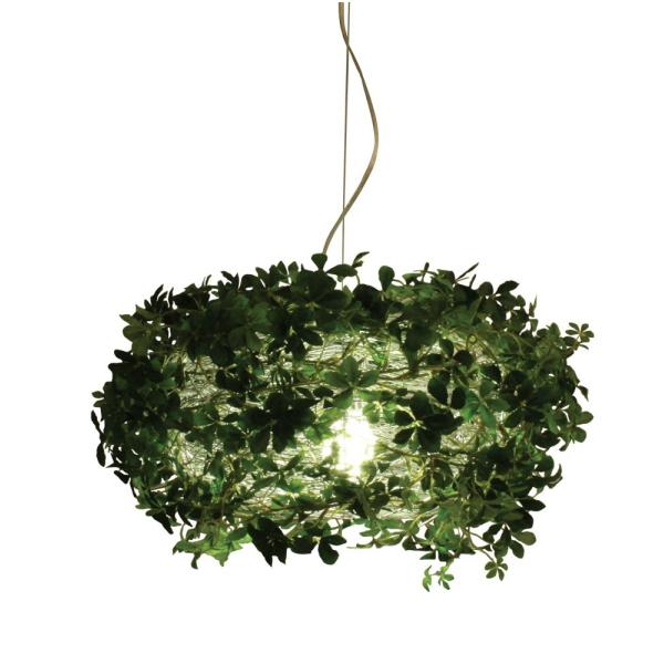 【送料無料】観葉植物のシェードのナチュラルデザイン 植物の影が素敵なペンダントランプ