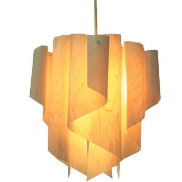 【送料無料】ヒノキを使用した木製シェード グラデーションが美しいモダンなペンダント照明